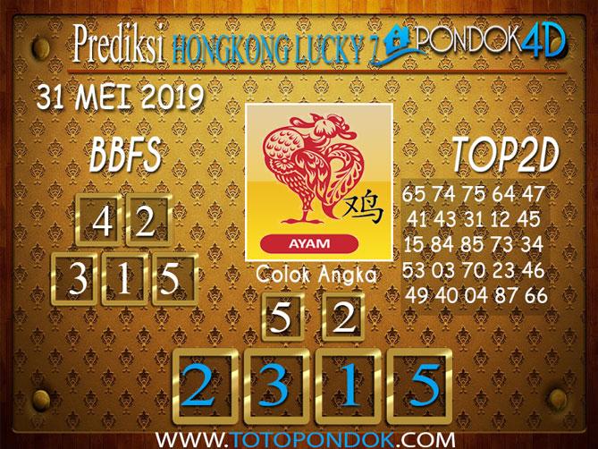 Prediksi Togel HONGKONG LUCKY 7 PONDOK4D 31 MEI 2019