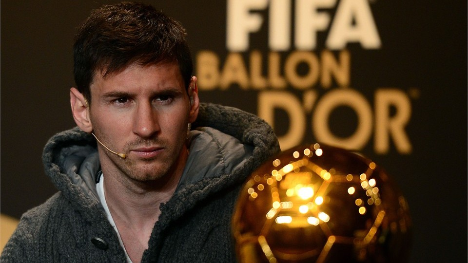 lionel messi winner of ballon dor 2012