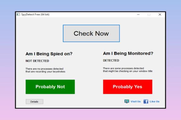برنامج SpyDetect Free للتحقق هل جهاز الكمبيوتر الخاص بك مراقب من نقرة واحدة بسيطة