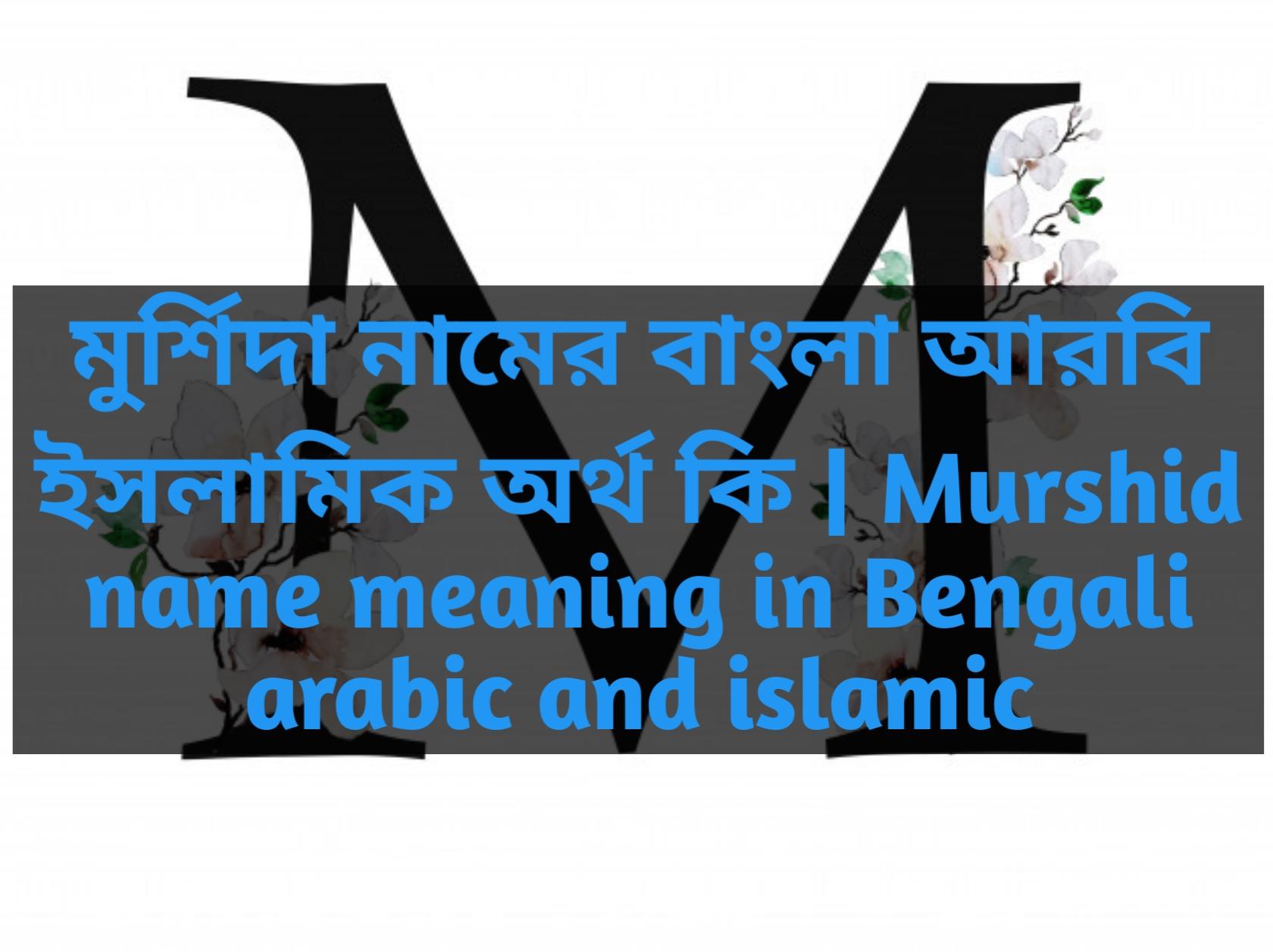 Murshida name meaning in Bengali, মুর্শিদা নামের অর্থ কি, মুর্শিদা নামের বাংলা অর্থ কি, মুর্শিদা নামের ইসলামিক অর্থ কি,