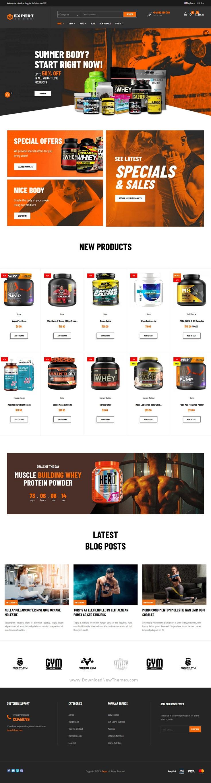 Sport And Fitness Online Store Prestashop Theme