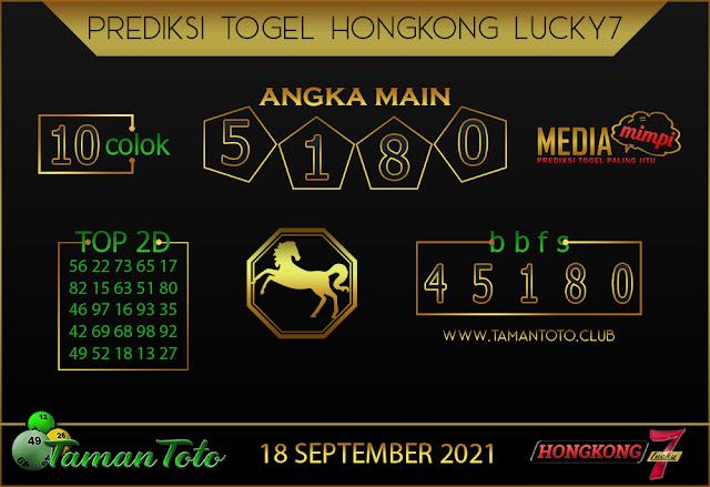 Prediksi Togel HONGKONG LUCKY 7 TAMAN TOTO 18 SEPT 2021