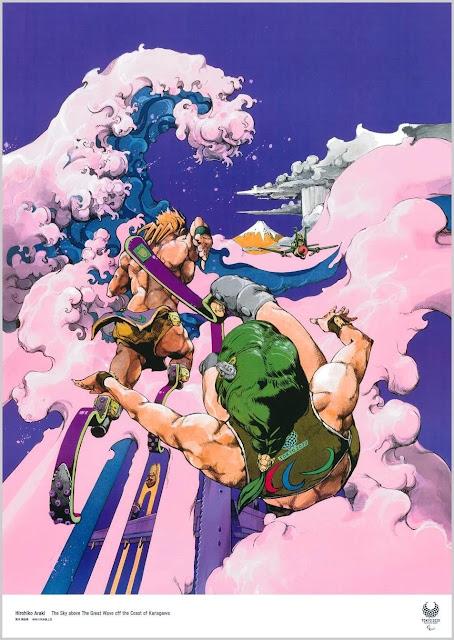 JoJo's Bizarre Adventure protagoniza este póster de los Juegos Paralímpicos de Tokio 2020.