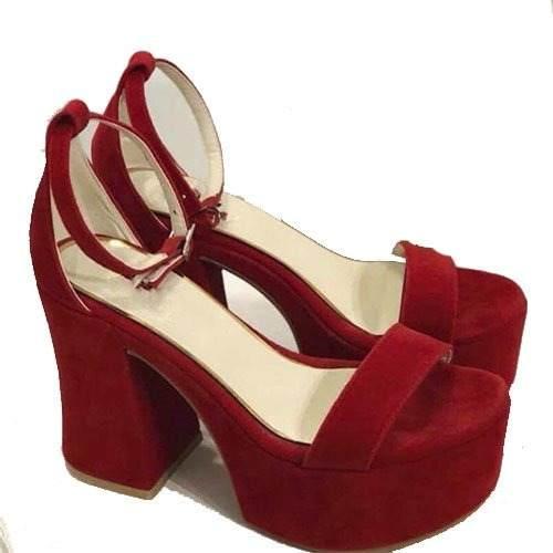 8dff2249 Mujer Zapatos Palo Art Plataforma G Sandalia Gamuza Taco 2018 H66 sQthdr