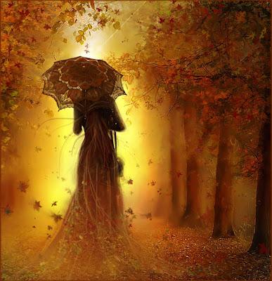 Resultado de imagen para mujer caminando  en otoño