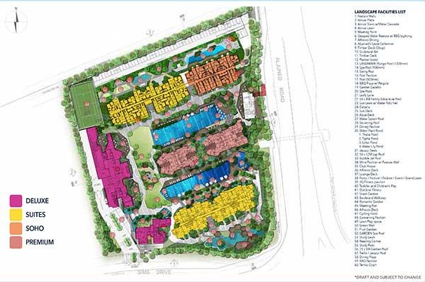 Sims Urban Oasis Siteplan