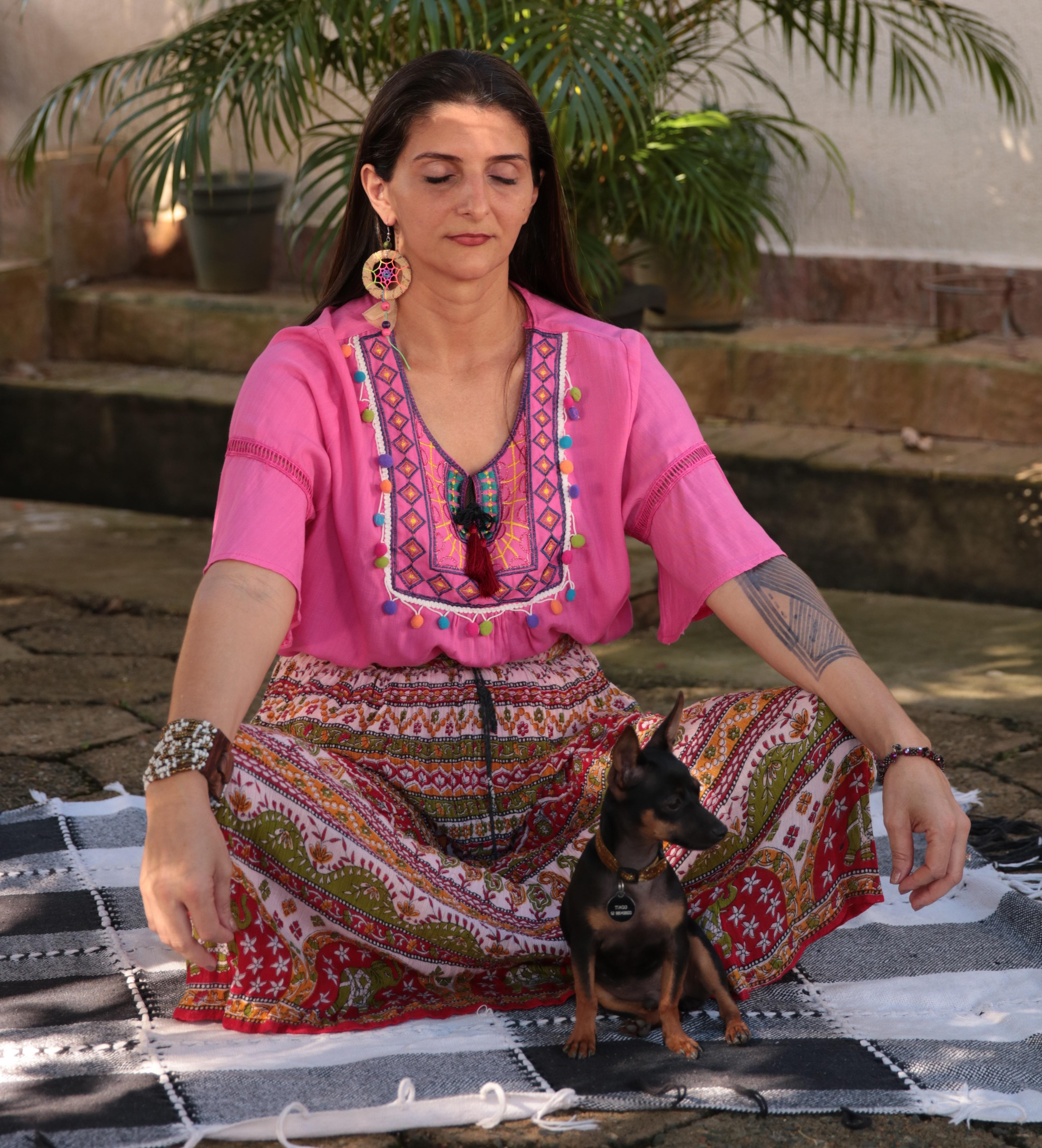 O dog de você fazem meditação também?