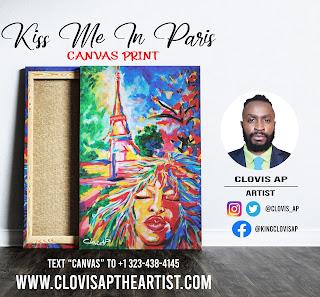 Kiss Me In Paris Canvas Print - Clovis AP