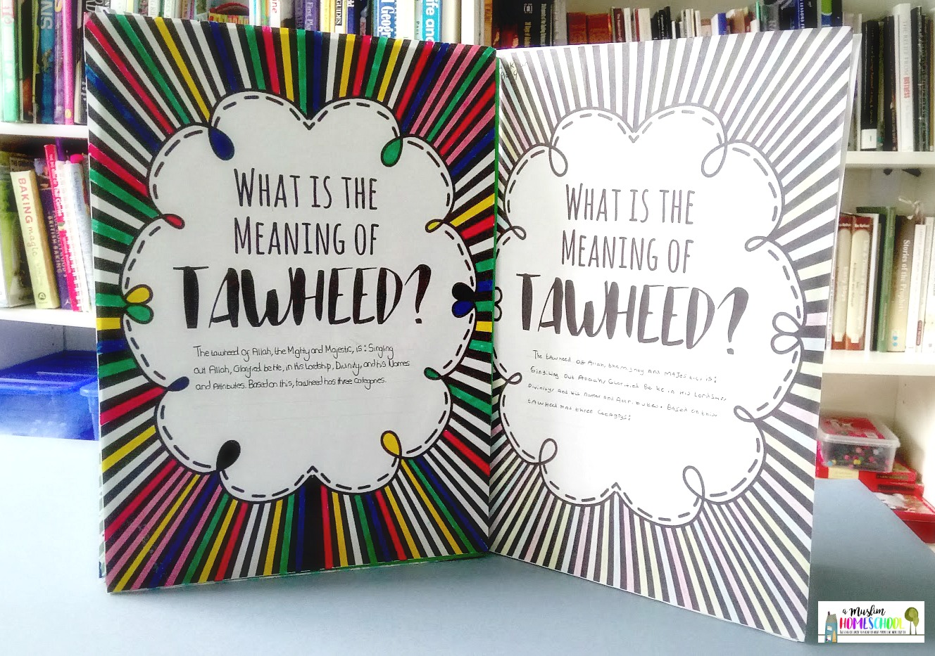 A Muslim Homeschool Tawheed Project For Kids With