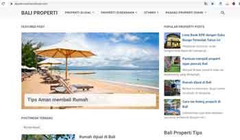 Property blogger template Premium