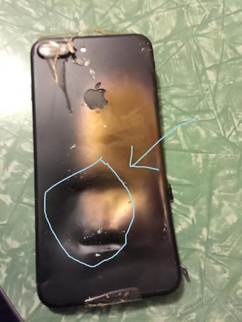 أول حالة انفجار iphone 7