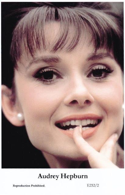 Audrey Hepburn - postcard