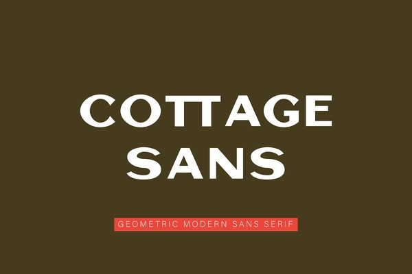 Cottage Sans 1950's Style Font
