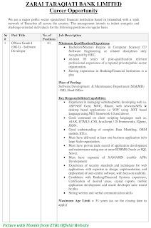 ZTBL Jobs 2020 - Latest Jobs in Zarai Taraqiati Bank Limited ZTBL November Jobs 2020 Apply Online