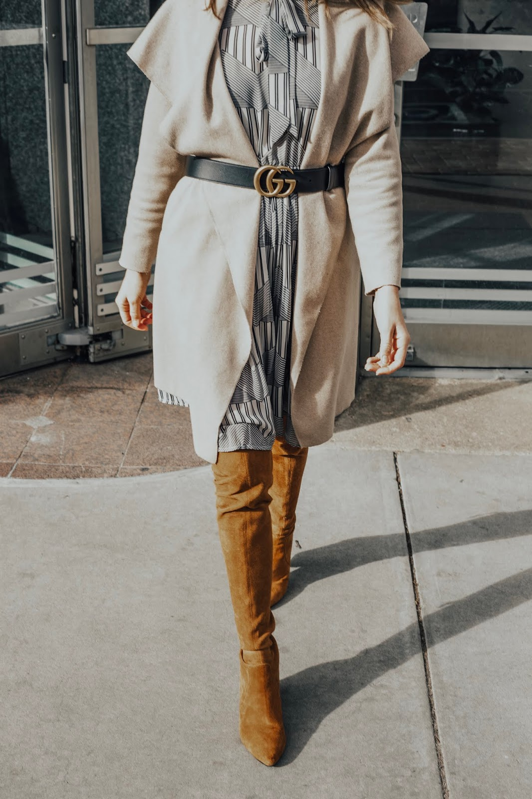 Dress With Jacket and Gucci Belt
