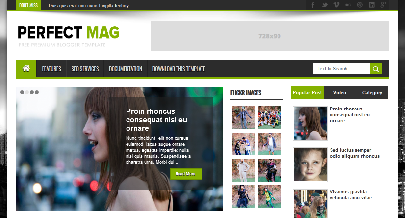 Perfect Mag News Blogger Template 2020