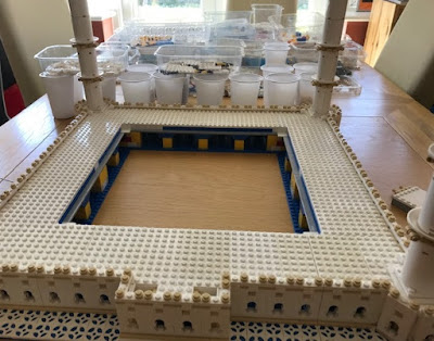 Lego Taj Mahal in progress