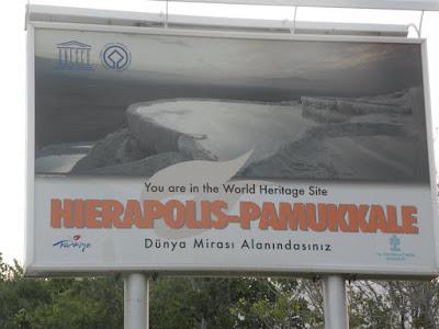 Placa de entrada de Pamukkale