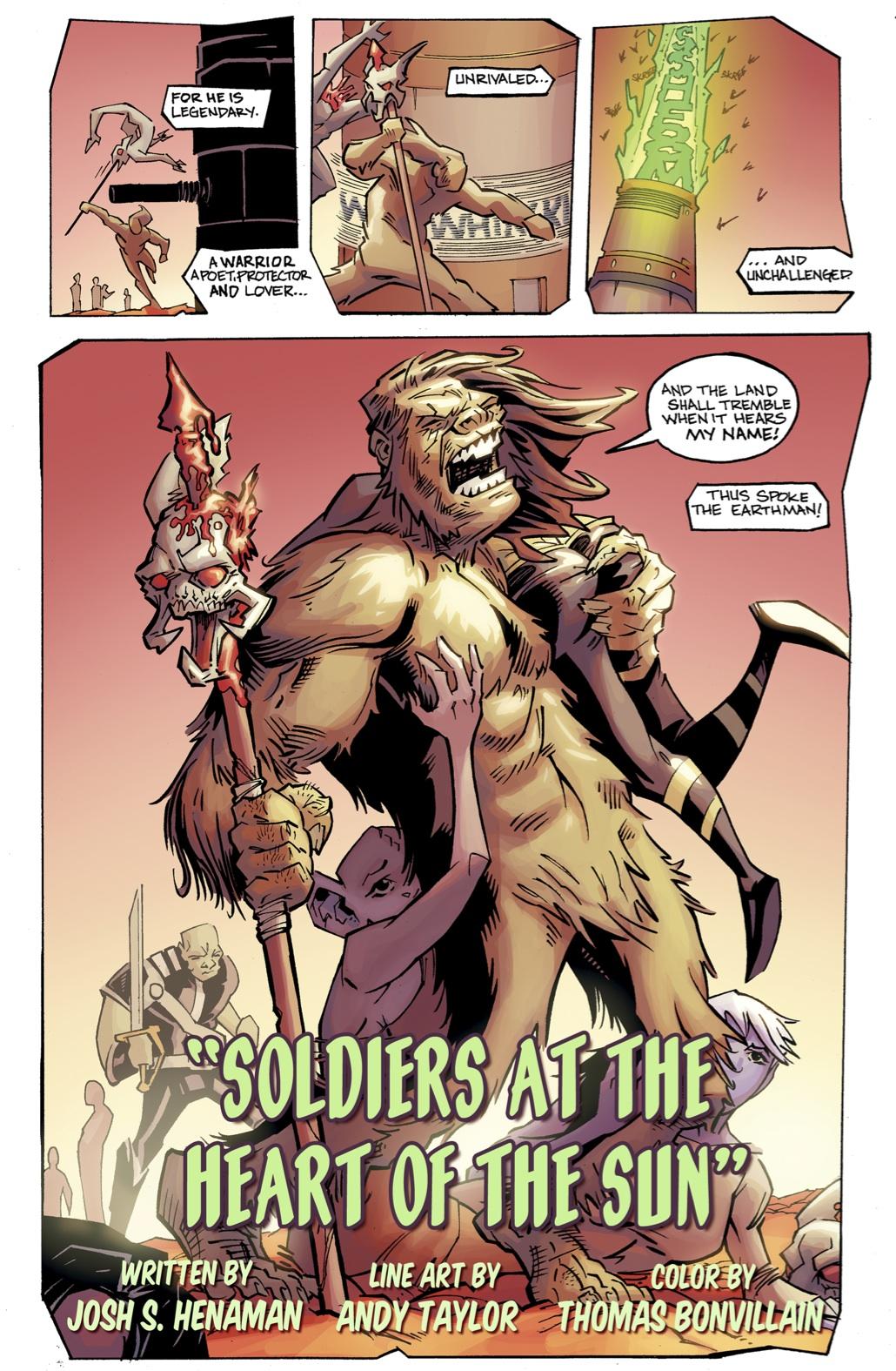 Bigfoot - Sword of the Earthman: Pre-Order Bigfoot Issue ...Bigfoot Comic