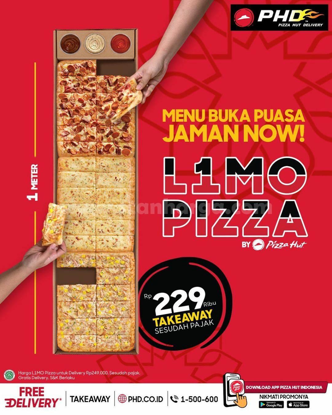 L1MO PIZZA PHD #1 Meter hanya Rp. 229Ribu + Free Delivery