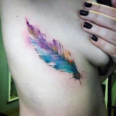 Wings Rib Tattoo