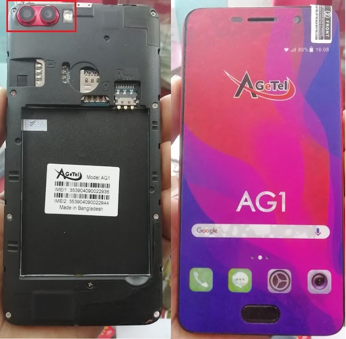 Agtel AG1 Flash File   MT6572   Android 6.0