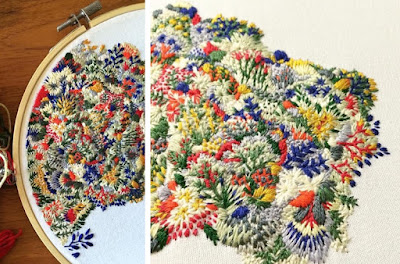 Image showing embroidery floral designs