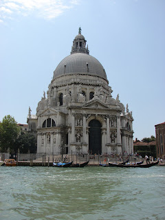 The church of Santa Maria della Salute stands at the entrance to the Grand Canal