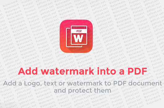 Add a Logo, text or watermark to PDF document - PDF CAT