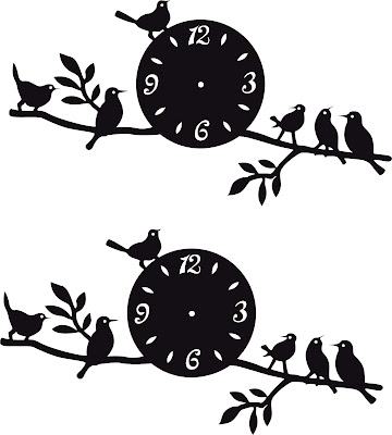 Wall Clock Birds Design 2019 DXF SVG Vector Free Download