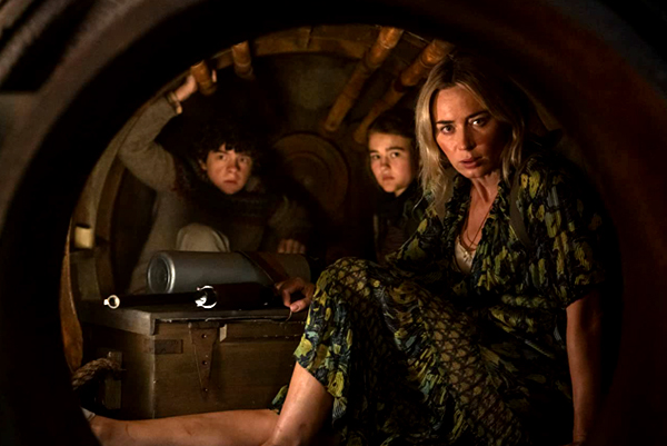 Evelyn (Emily Blunt), Regan (Millicent Simmonds) and Marcus Abbott (Noah Jupe) continue to be in survival mode during an alien invasion in A QUIET PLACE PART II.