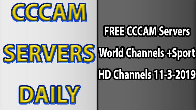 FREE CCCAM Servers World Channels +Sport HD Channels 11-3-2019