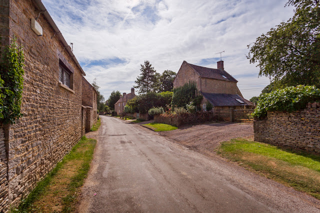 Lane through the Cotswold village of Astall by Martyn Ferry Photography