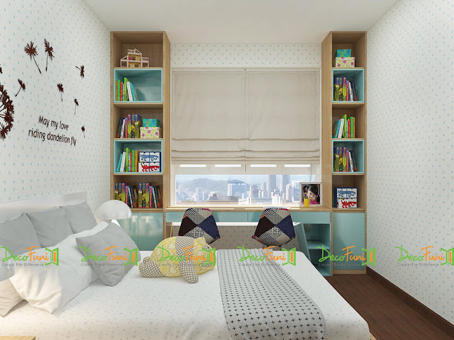 Nội thất phòng ngủ chung cư 70m2 - 2 phòng ngủ, chung cư Moonlight Residences