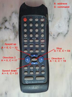 IR RC5 remote control