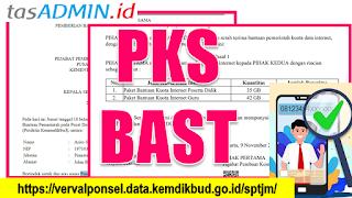 PKS dan BAST Bantuan Kuota Internet