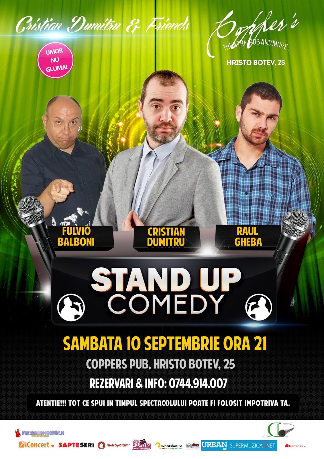 Stand-Up Comedy Sambata 10 septembrie Bucuresti