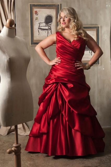 Vestido de novia para gorditas rojo