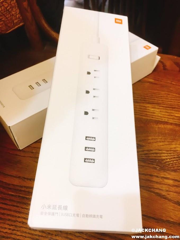 《3C智慧家庭》小米延長線,簡潔精緻小巧,3個USB接口。
