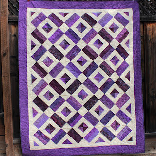 BRICK YARD QUILT-SCRAP QUILT-BRICK YARD BLOCK-PURPLE QUILT-QUILT TUTORIAL