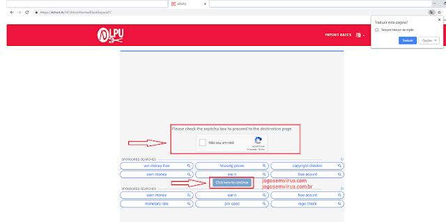 Como baixar no site! Imagem de Exemplo Encurtador Adlpu