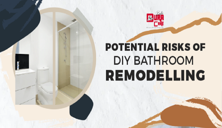 Potential Risks of DIY Bathroom Remodeling #Infographic