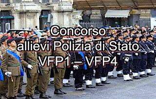 Concorso VFP1 - VFP4 allievi agenti polizia di Stato - adessolavoro.blogspot.com
