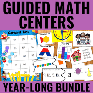 Cover of Guided Math Centers Bundle