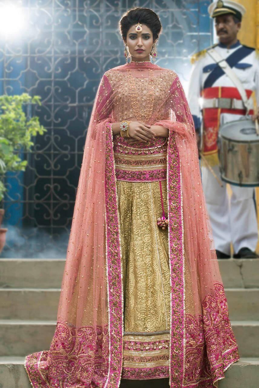Ayesha Ibrahim Mehndi Dress for Pakistani Weddings