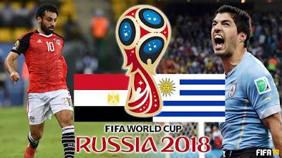 Luis Suárez, Mohamed Salah, Uruguay VS Egypt, Egypt VS Uruguay, Russia World Cup, World Cup 2018, Piala Dunia 2018, football,