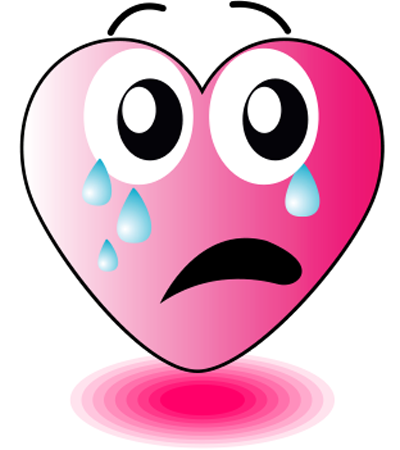 Tearful heart icon