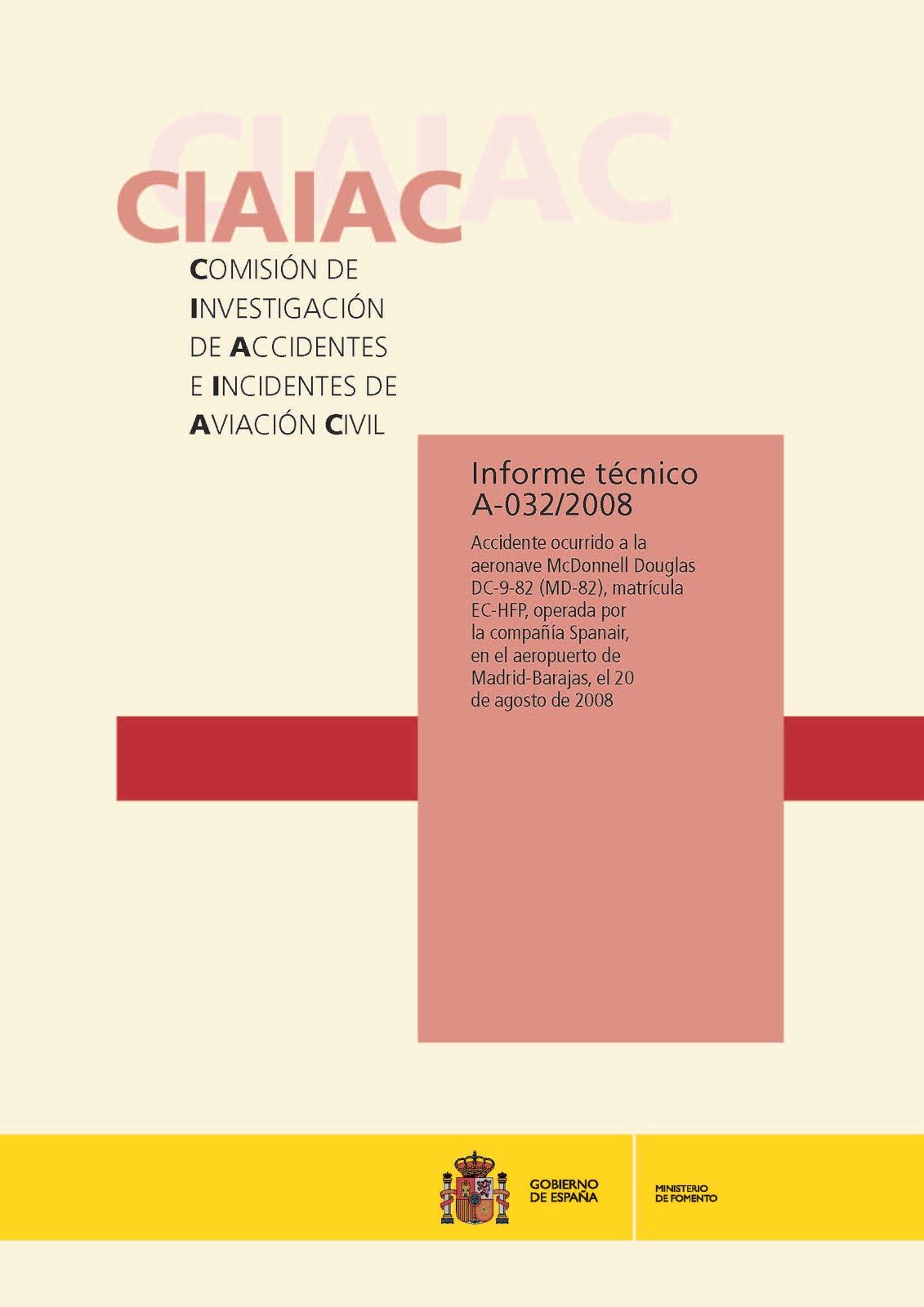 Informe técnico 032/2008 CIAIAC