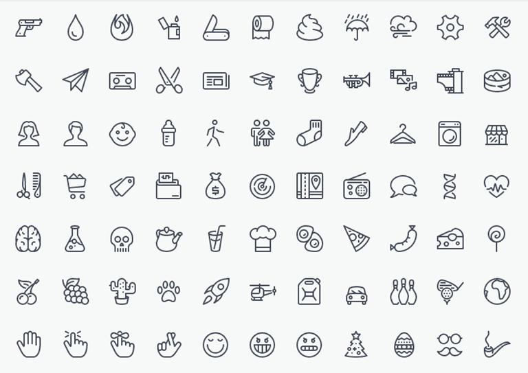 Danh sách đầy đủ các biểu tượng Linear icons với giá trị content css