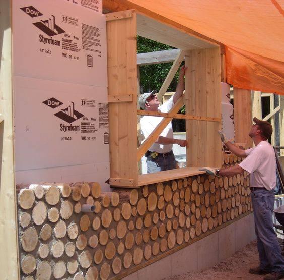 Construcci n de casas con troncos de madera construccion - Construccion casas de madera ...